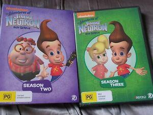 THE ADVENTURES OF JIMMY NEUTRON BOY GENIUS SEASONS 2 & 3 DVD SETS NEW/SEALED