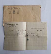 1921 Singer Sewing Machine Receipt & Envelope. 64 Powis St, Woolwich London SE18