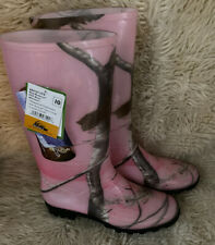 New-Women's Size 10 Itasca Pink Realtree Mid-Calf PVC Waterproof Boots