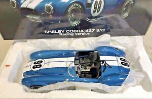 1:18 AC Shelby Cobra 427 S/C Racing Version #98 Blue/White RARE Kyosho BNIB