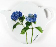 Hydrangea Tea Bag Holder Ashdene Melamine Teapot Shape New Blue