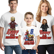 The Avengers Super Hero Birthday Shirt Custom Name and Age Personalized