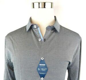 Penguin Slim Stretch Black Button Front Dress Shirt Mens 17 34/35, 36/37 NWT