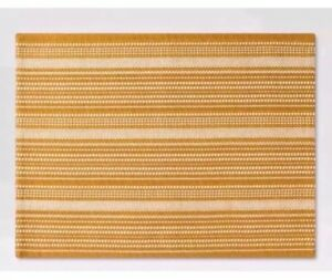 One Threshold Gold Metallic Stripe Placemat New