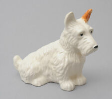 Beswick Dogs - Seated White Scottie Dog No.286 1934-1954