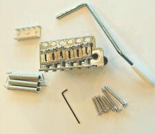 New Wilkinson Lic Tremolo Guitar Bridge & Screws Chrome Strat Style 54mm E to E