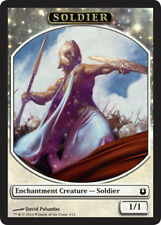 4X 1/1 White Soldier Token NM (3/11) MTG Magic Born of the Gods God-Favored