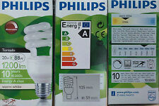 Bombilla PHILIPS Tornado 20w Regulable/Dimmable,Calida 827 2700k Bajo Consumo