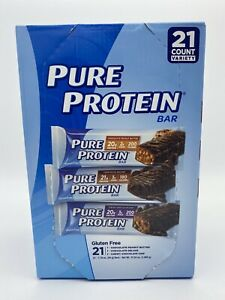 Pure Protein Bars Variety Pack 18 Bars Gluten Free Open Box Exp: 9/21