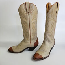 Vintage Texas Leather Boots With Issues Cowboy Wing Tip Tall USA Iconic!