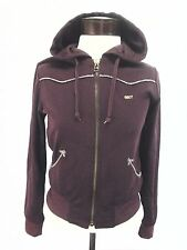 OBEY Jacket Zip Hoodie Long Sleeve Womens Small Burgundy Purple sz S $79