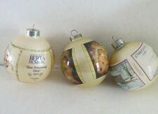 "3 Vintage Christmas Ornament Bulbs Goebel ""Tree Trimming Time"""