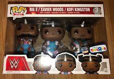 "Funko POP! Big E Xavier Woods Kofi Kingston WWE Exclusive 3-Pack Figures ""NEW"""