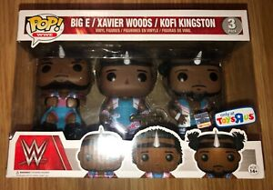 Funko POP Big E Xavier Woods Kofi Kingston WWE Exclusive 3-Pack THE NEW DAY