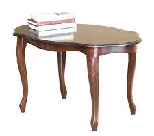 Tavolino ovale in stile 1700, tavolino da salotto ovale legno, tavolino classico