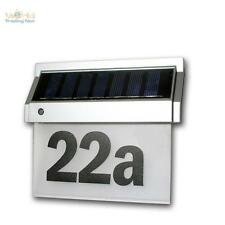 Solaire Numéro de domicile avec 2 LEDs Numéro de la maison lumineuse LED