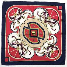 "HERMES PARIS ""Washington's Carriage"" Foulard Seta Grande Silk Big Scarf With Tag"