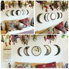 Nordic Style Wooden Decorative Mirror Lunar Eclipse Wooden Decorative Mirror