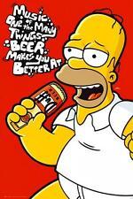 The Simpsons : Homer Musique - Maxi Poster 61cm x 91.5cm nouveau et scellé