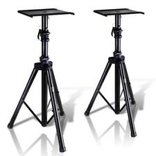 Pyle Dual Studio Monitor Speaker Stand Mounts, Universal Device Stands, Pair