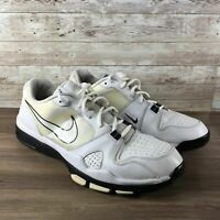 Nike Course Classic Mens Size 14 White Leather Spikeless Athletic Golf Shoes