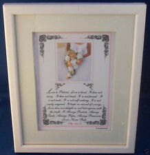 """New! Bible Verse Plaques/Signs""""LOVE NEVER FAILS""""Christian~Wedding~Bride Gift $75"""