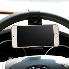 Car Steering Wheel iPhone 4 4S 5 5C 5S 6 HTC Amazon Fire Phone GPS Holder Black