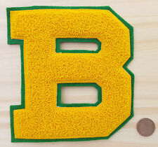 Vtg Letterman Patch-B-Yellow/Green-American Pennant-Denver CO USA-College-High..