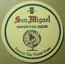 SAN MIGUEL IMPORTED BEER COASTER with Globe, PHILIPPINES