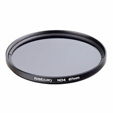RISE(UK) 67MM Neutral Density ND4 filter for Canon Nikon Pentax Sony Samsung