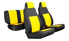Jeep Wrangler 2003-06 TJ neoprene front & rear custom seat cover yellow FSYl