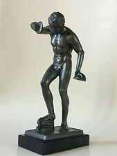 19th Century Grand Tour German Bronze The Dancing Faun with Cymbals Figurine