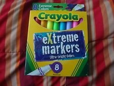 CRAYOLA 8 PACK OF EXTREME MARKERS ULTRA-BRIGHT COLORS~FOR AGES 3+~NEW IN PACKAGE