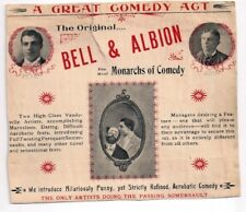 Bell and Albion - Vaudeville Comedy Act - letterhead early 1900s