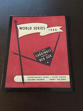 St Louis Cardinals vs Boston Red Sox 1946 World Series program baseball card
