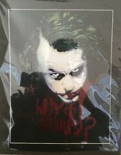 "Joker Painting Spray Painted ""Why So Serious"" Custom Made"