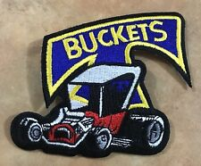 T BUCKET EMBROIDERED CLOTH PATCH FORD 289 302 350 351 HOT ROD CUSTOM NOSTALGIA