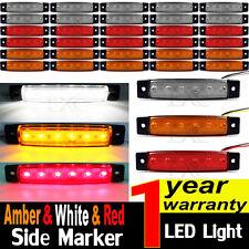 30 pcs 12V SMD 6 LED Side Marker Light Position Truck Trailer White/Amber/Red