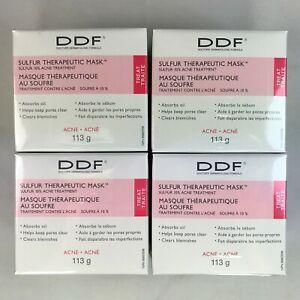 4x DDF Sulfur Therapeutic Mask Acne Blemish Treatment 113 g 4 Oz Authentic A17