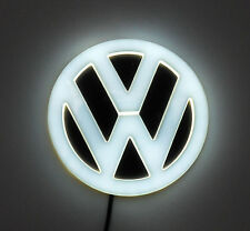 NEW Backlit Chrome &  WHITE LED Round Badge Emblem Lamp For VW™ Free Ship