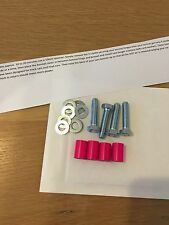 22mm Neon Pink Bonnet Raisers/Spacers Rover MG ZR 200 75 25
