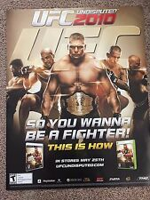 UFC UNDISPUTED 2010 COLLECTIBLE POSTER 28 X 22 , PROMOTING XBOX-PS3
