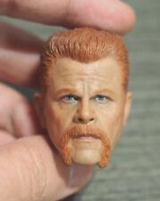 Custom 1/6 Scale The Walking Dead Abraham Head Sculpt For Hot Toys Ganghood Body