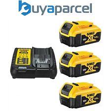 3 x Dewalt DCB184 5.0ah 18v batería de ion de Litio Xr + DCB115 Cargador