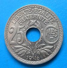 25 centimes Lindauer 1916 SPLENDIDE GARANTI (voire mieux)