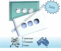 3 Gang Light Switch Three Gang White With Glass Look Cover Plate Wall Mount