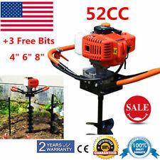52cc Post Hole Digger 3 Bits Earth Auger Borer Fence Post Pole Tree Shrub Etc