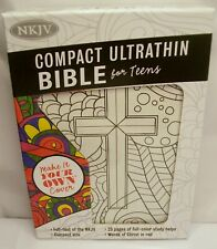 BRAND NEW HOLMAN COMPACT ULTRATHIN NKJV BIBLE FOR TEENS! MAKE IT YOUR OWN COVER!