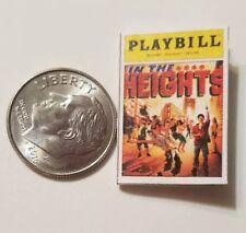 Miniature Dollhouse Playbill  book 1/12 Barbie        in the Heights Lin Miranda