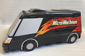 Vintage Micro Machines Super Van City Black Fold Out RV Playset Case 2003 Hasbro